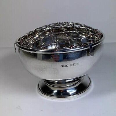 Rose Bowl Sterling Silver By SJ Rose Silversmiths Hallmarked 1984