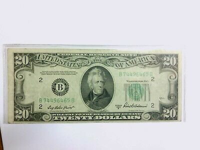USA 20 Dollar 1950 B Federal Reserve Note B New York Banknote Priest & Anderson