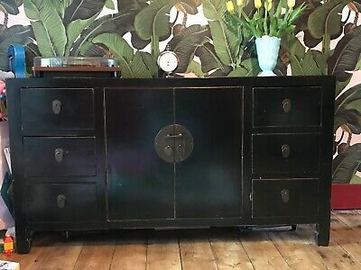 Chinese Black Lacquer Sideboard