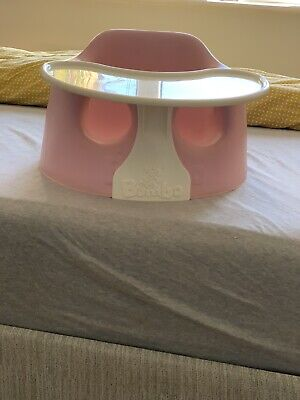 Pink Bumbo Baby Seat With Tray