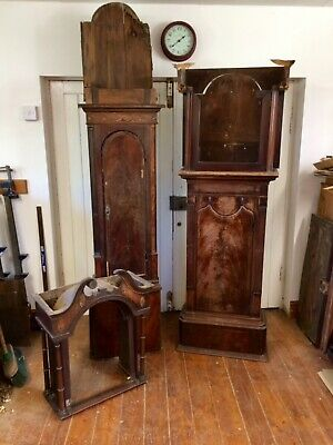 Two 18th Century Georgian Longcase Clocks for restoration or parts.