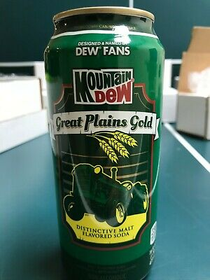 Mountain Dew Great Plains Gold 16 oz. can 2013 Promotion Unopened! /1000
