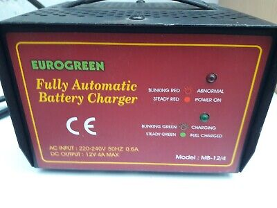 Golf Battery charger Eurogreen fully automatic charger with terminals