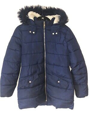 marks and spencer Blue Parka Coat Age 12-13 Unisex