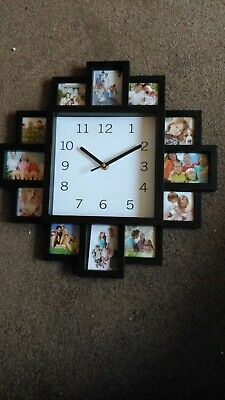 Denny International 12 Multi Picture Wall Clock for Home Decor
