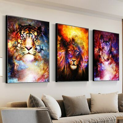 Animals Abstract Canvas Painting Wall Poster Prints Wall Picture Art Home Decor