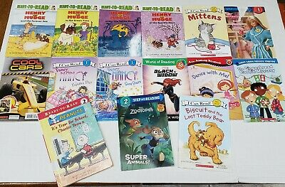 Mixed Lot 15 I Can Read Scholastic Readers Childrens Books LEVELS 1 & 2 Reading