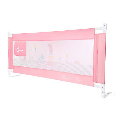 Odoland 180cm Foldable Baby Child Toddler Safety Bed Rail Anti Falling Guard New