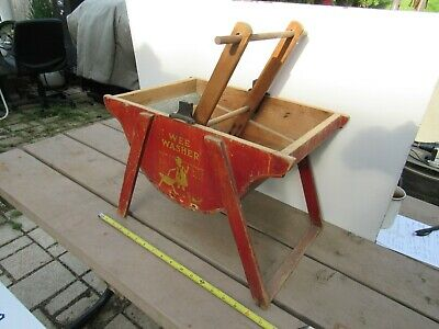 Antique Primitive Washing Machine Wee Washer Childs Toy Or Salesman Sample