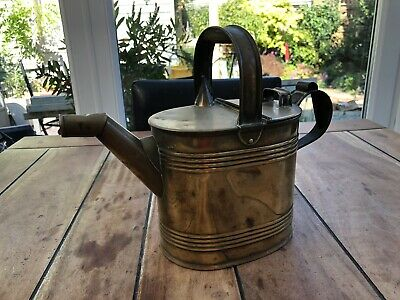 Vintage Antique Old Brass Water Kettle Watering Can