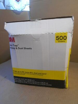 "3M Easy Trap Duster Sheets 55655W 5"" x 125' Roll Sweep & Dust 500 SHEETS 2 ROLL"