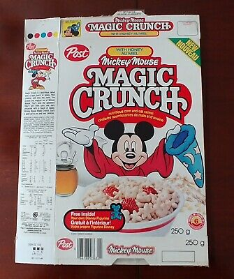 Post MICKEY MOUSE Magic Crunch Cereal Box - Canadian Very Rare!