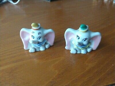 Wade Whimsies Walt Disney Hat Box Collection Dumbo Yellow & Green Hat Pair