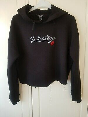 New Look Girls Black Hoodie Age 12-13 Excellent condition