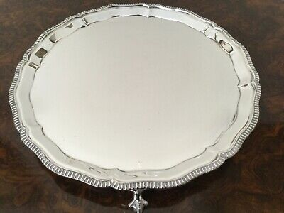 Good Solid Sterling Silver Card Tray Salver Mappin & Webb Sheffield 1951