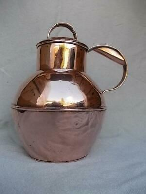 267 / Antique 3 Pint Copper Jersey Milk Canister