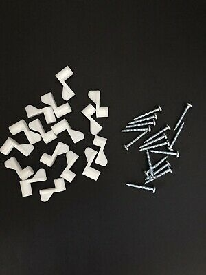 50 Window Screen Storm Clips /& Screws Nylon Plastic Sash White Holder Tab Clip