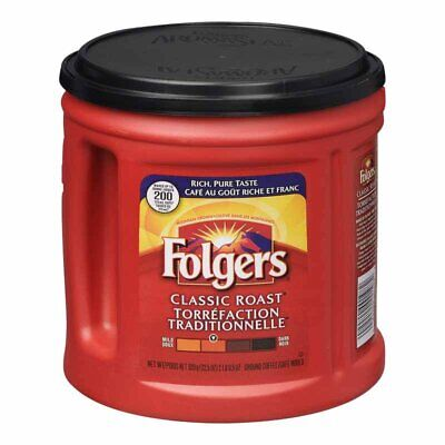 Folgers Classic Roast Ground Coffee - 920G / 2LB - CANADA FAST SHIPPING