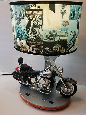 HARLEY DAVIDSON HERITAGE SOFTAIL TABLE LAMP w/Night Lights & Sounds