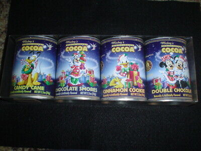Vintage Disney Hot Cocoa Tins Christmas The Fab Five Sealed