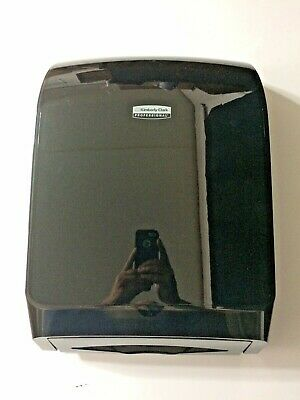 NOS Kimberly-Clark Black Professional Mod 39719 Scottfold Towel Dispenser