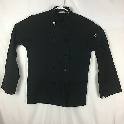 Chef Works SMALL Bastille Coat Black Long Sleeve