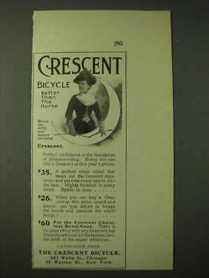 1900 Crescent Bicycles Ad - Crescent bicycle better than the horse