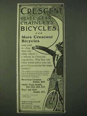 1900 Crescent Bevel-Gear Chainless Bicycles Ad