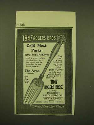 1902 1847 Rogers Bros. Avon Cold Meat Fork Ad