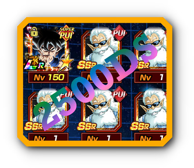 2500 DS + Goku UI LR with DAI KAI + ORBS, Random SSR...  - Dokkan battle