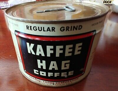 Kaffee Hag Metal Coffee Tin - unopened with key