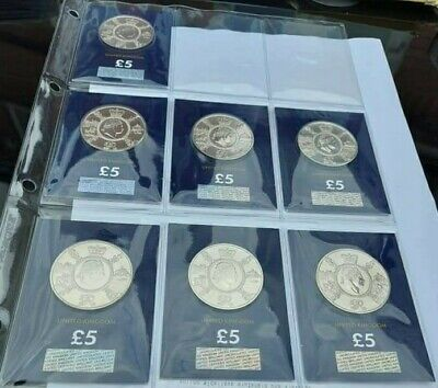 7 x 2020 George III £5 FIVE POUND Brilliant Uncirculated Coin - NEW