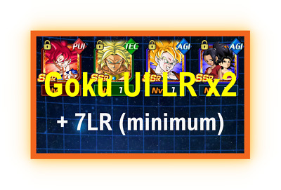 Goku UI LR x2 with 9 RANDOM LR'S + Dai Kai, Orbs, n much more ! - Dokkan battle