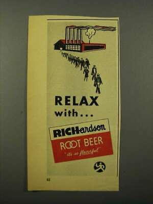 1944 Richardson Root Beer Ad - Relax With