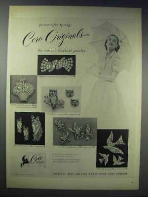 1948 Coro Jewelry Ad - Forecast for Spring