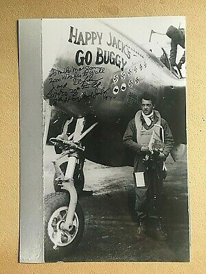 Jack Ilfrey 1St Fighter Group Wwii Ace Signed 7X10 Photo 7.5 Kills