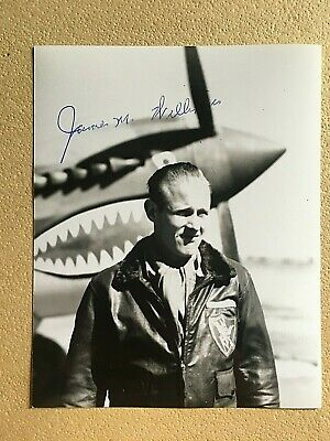 James Williams Wwii 23Rd Fighter Group Ace Signed 4X5 Photo 6 Kills
