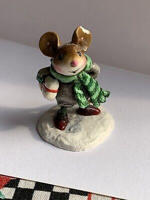 Wee Forest Folk Christmas Figurine M-342a - Squire's Little Friend  (damaged)