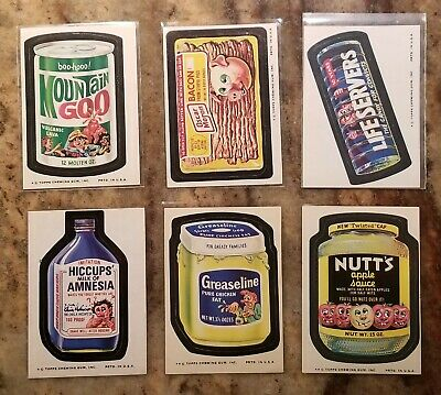 1974 Topps Wacky Packages Series 10 Complete 29 Card Set No Pupsi