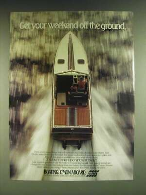 1985 NMMA National Marine Manufacturers Association Ad - Get your weekend off