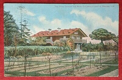 Rare Kirk of Cowes Tinted RPPC of Swiss Cottage Osborne House Isle of Wight