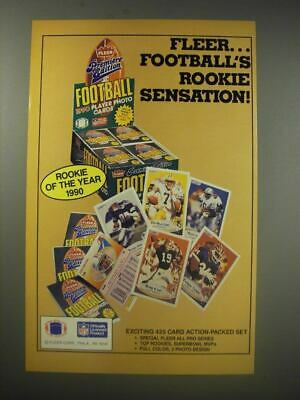 1990 Fleer Premiere Edition Football Player Photo Cards Ad