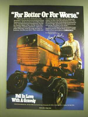 1990 Gravely Lawn Tractors Ad - For better or for worse