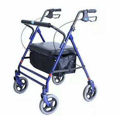 Invacare Bariatric Rollator, with Flip-up Padded Seat, 500 lb. Weight Capacity,