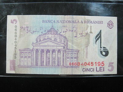 Romania 5 Lei 2005 82# Bank Currency Money Banknote
