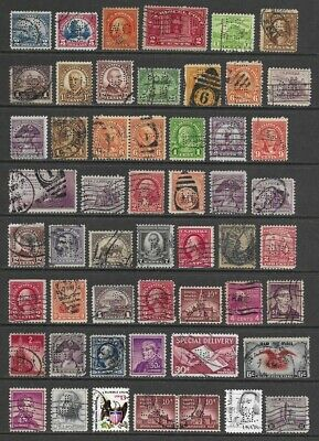 Nice Lot of US Perfin Stamps - - > All Perfins
