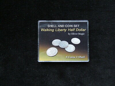 Walking Liberty Half Dollar Shell and Coin Set by Oliver Magic  BRAND NEW