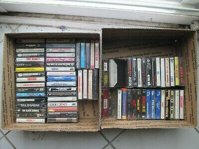 Mixed Lot #1-- 72 Vintage 1980'S Rock N Roll Cassettes Big Stars Some Rare