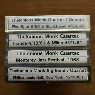 Thelonious Monk DAT tapes collection lot concerts jazz bebop music