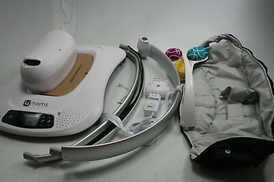 4moms mamaRoo 4 Bluetooth Baby Swing Rocker w 5 Unique Motions Grey Classic